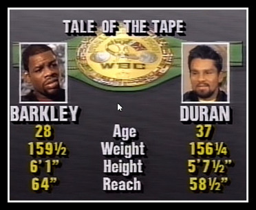 Duran vs. Barkley Stats